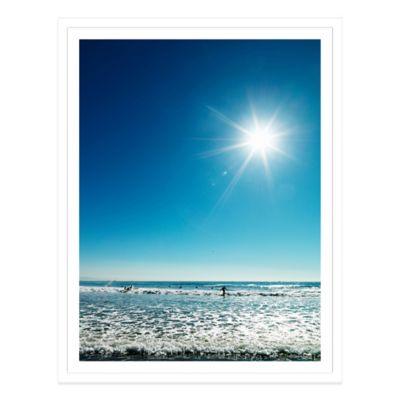 Beach Beneath a Blue Sky USA Large Photographed Framed Print Wall Art
