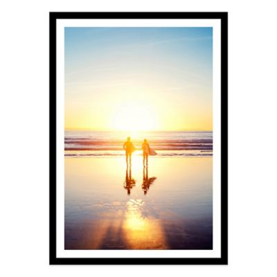 Sunsoaked Surf Silhouette Large Photographed Framed Print Wall Art