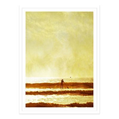 One Man and His Gull Medium Photographed Framed Print Wall Art