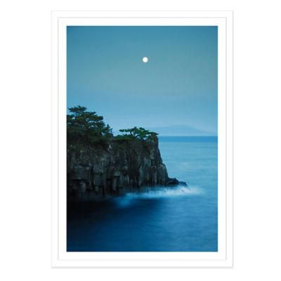 Moonlight on Jogasaki Coast Medium Photographed Framed Print Wall Art