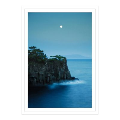 Moonlight on Jogasaki Coast Extra-Large Photographed Framed Print Wall Art