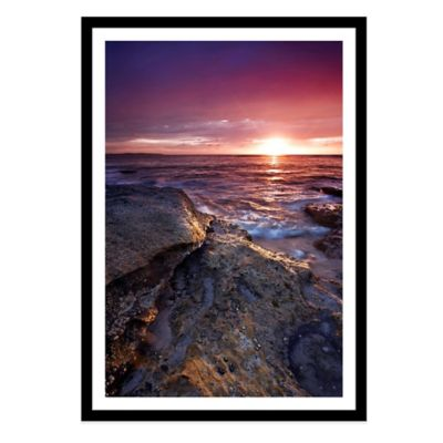 Colourful Sunrise at Cronulla Beach, Sydney Large Photographed Framed Print Wall Art