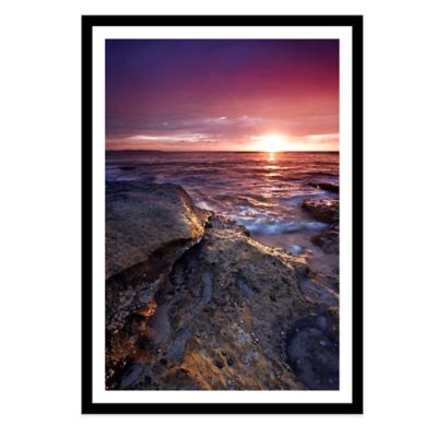 Colourful Sunrise at Cronulla Beach, Sydney Extra-Large Photographed Framed Print Wall Art