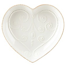 Lenox® French Perle Heart Dish in White