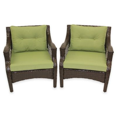 Stratford 4-Piece Outdoor Replacement Cushion Set in Lime