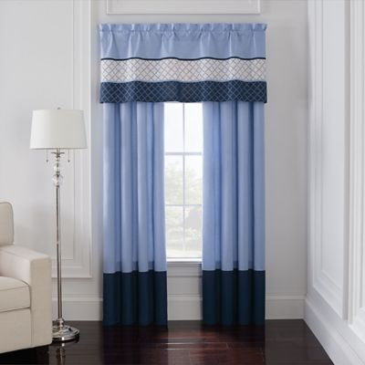 Blue Pair and Valance Set