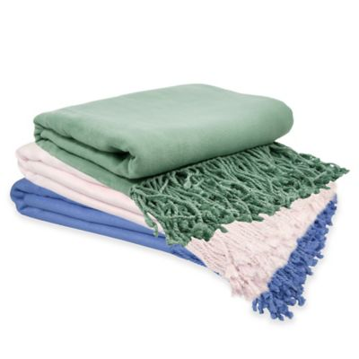 PUR Cashmere Velvet Throw in Baby Blue