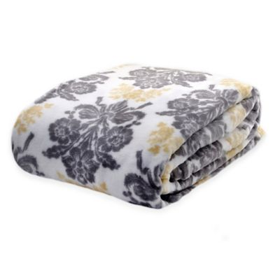 Laura Ashley® Tatton Damask Full/Queen Blanket