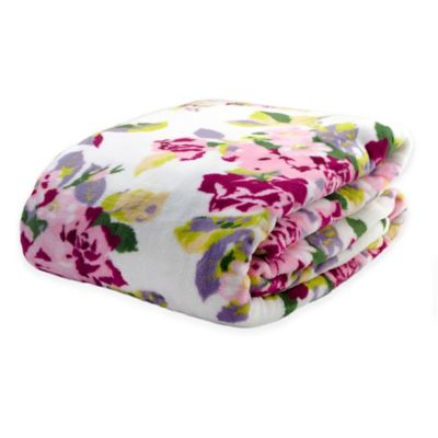 Laura Ashley® Lidia Floral Full/Queen Blanket