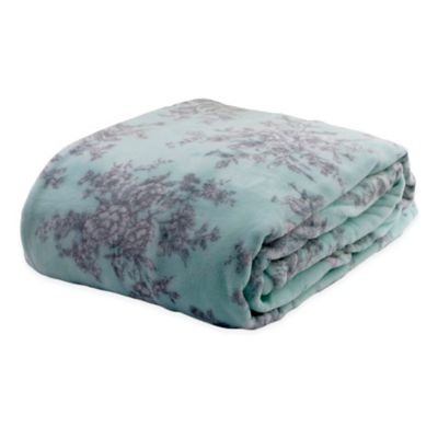 Laura Ashley® Cielo Floral Full/Queen Blanket