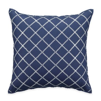 Bridge Street Concord Square Throw Pillow in Blue