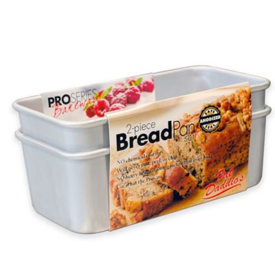 Fat Daddio's ProSeries 7.75-Inch x 3-Inch Bread Pan (Set of 2)