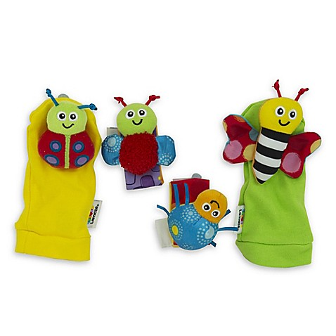 Lamaze® Gardenbug 4-Piece Foot Finder and Wrist Rattle Set