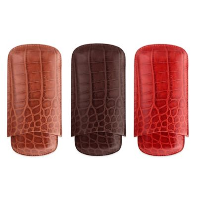 M-Clip® Red Crocodile Cigar Case