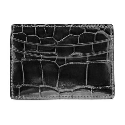 M-Clip® Alligator Card Case in Black