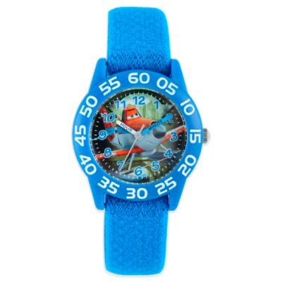 "Disney® ""Planes"" Children's 32mm Time Teacher Watch with Blue Nylon Strap"