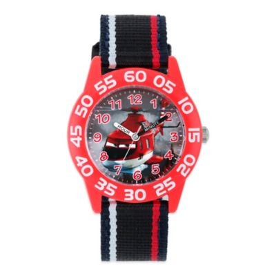"Disney® ""Planes"" Children's 32mm Time Teacher Watch with Black Nylon Strap"