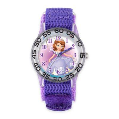 Disney® Sofia Children's 32mm Time Teacher Watch with Purple Nylon Strap