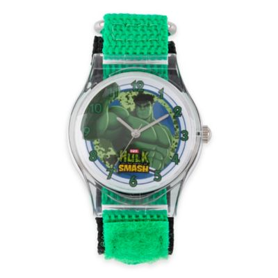 Marvel Children's 33mm Incredible Hulk Wrist Watch in Plastic with Green Nylon Strap