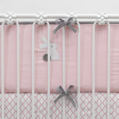 Lambs & Ivy® Mix & Match Bunny 4-Piece Perfect Fit® Reversible Crib Bumper Set in Pink