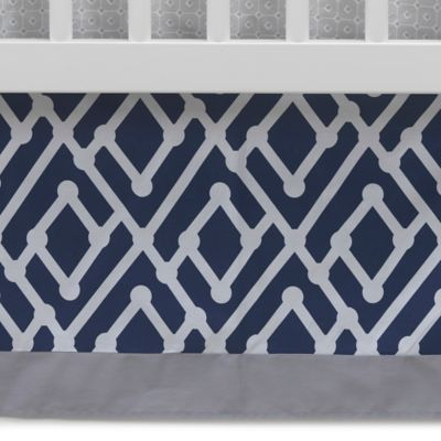Lambs & Ivy® Mix & Match Jensen Crib Skirt in Navy