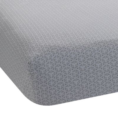 Lambs & Ivy® Mix & Match Ryan Geo Print Fitted Crib Sheet in Grey