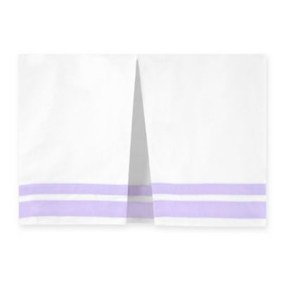 Just Born® Mix & Match Classic Collection Crib Skirt in Lilac Shimmer