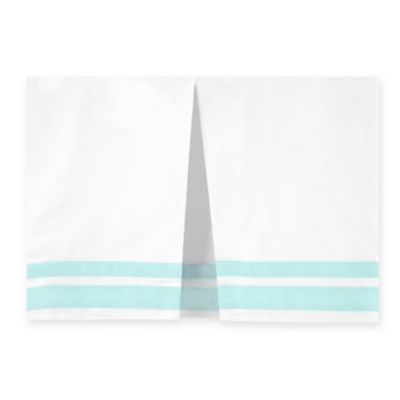 Just Born® Mix & Match Classic Collection Crib Skirt in Bleached Aqua