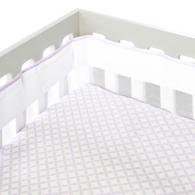 Just Born® Mix & Match Safe Sleep Fresh Air Crib Liner in Lilac Shimmer