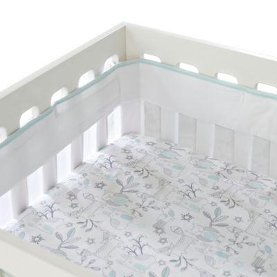 Just Born® Mix & Match Safe Sleep Fresh Air Crib Liner in Bleached Aqua