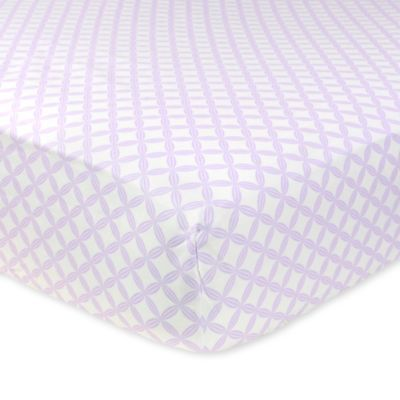 Just Born® Mix & Match Safe Sleep Hampton Fitted Crib Sheet in Lilac