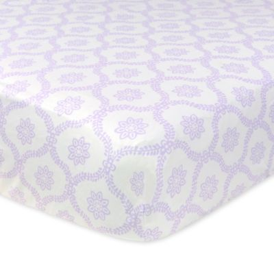 Just Born® Mix & Match Safe Sleep Trellis Fitted Crib Sheet in Lilac