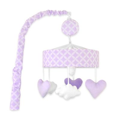Just Born® Mix & Match Safe Sleep Hearts Musical Mobile in Lilac Shimmer