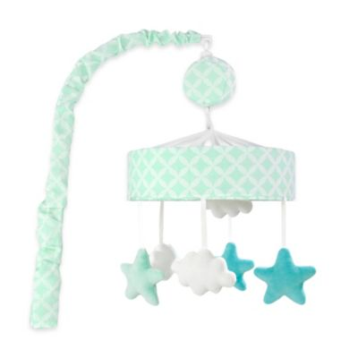Just Born® Mix & Match Safe Sleep Stars Musical Mobile in Bleached Aqua
