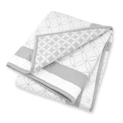Just Born® Mix & Match Safe Sleep High Rise Hampton Reversible Quilt in Grey/White