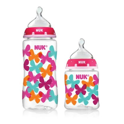 NUK® 3-Pack 10 oz. Orthodontic Bottles with Pink Butterfly Design