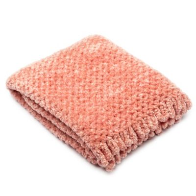 Pashmere Baby™ Chenille Crib/Stroller Blanket in Pink