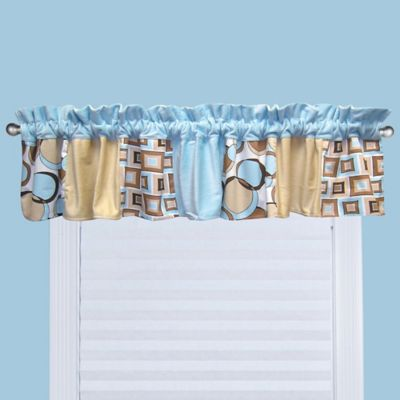 Trend Lab® Bubbles Window Valance in Tan/Blue