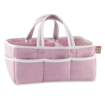 Trend Lab® Storage Caddy in Lilac Gingham Seersucker