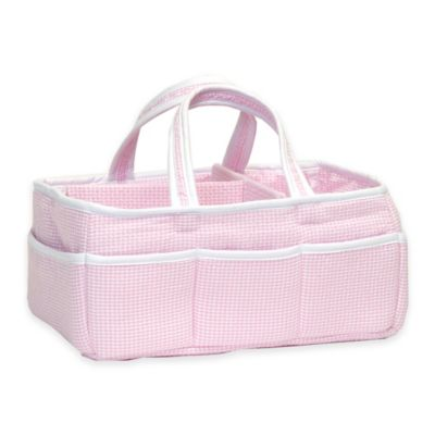 Trend Lab® Storage Caddy in Pink Gingham Seersucker