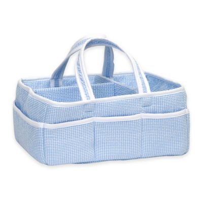 Trend Lab® Storage Caddy in Blue Gingham Seersucker
