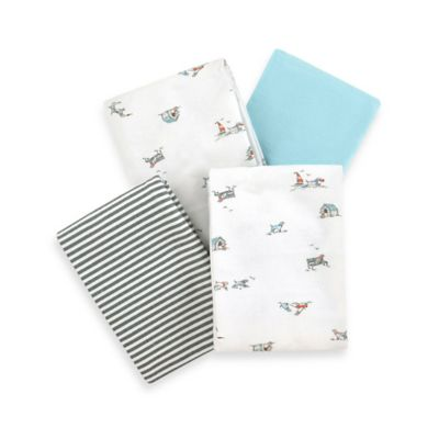 Carter's® Boys' 4-Pack Dog Flannel Receiving Blankets