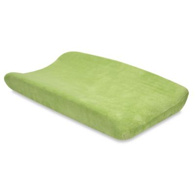 Trend Lab® Coral Fleece Changing Pad Cover in Sage Green