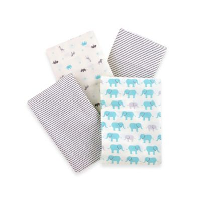 Carter's® Boys' 4-Pack Elephant Friends Flannel Receiving Blankets