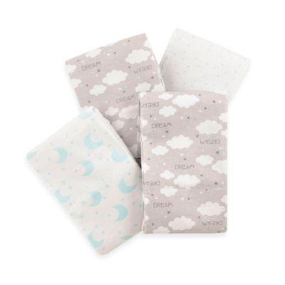 Carter's® 4-Pack Celestial Flannel Receiving Blankets
