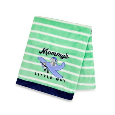 Carter's® Boys' Plane Ride Plush Receiving Blanket