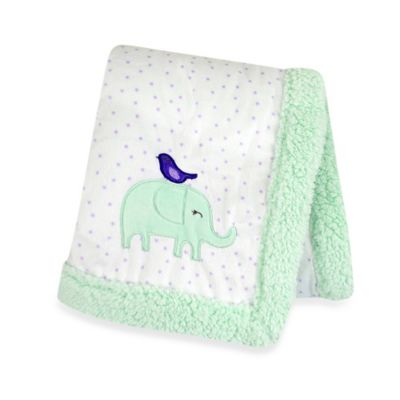 Carter's® Girls' Polka Dot Elephant Friend Velboa Blanket