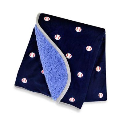 Carter's® Sherpa Baseball Blanket