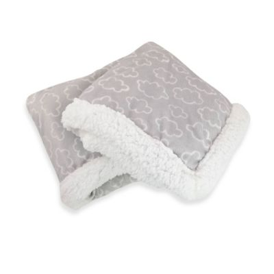 Carter's® Cloudy Day Velboa Receiving Blanket in Gray/White
