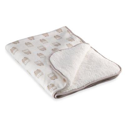carter's® Owl Plush Blanket in Tan/Grey